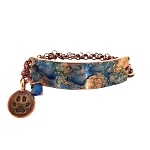 Sandy Blue Small Copper Bracelet Lobster Closure