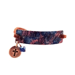 Cobalt Blue Small Copper Bracelet Leather Closure