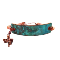 Tiffany Green Small Copper Bracelet Leather Closure