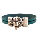 Women's C-Clasp Leather Bracelet in Multiple Leather Colors