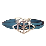 Women's Symmetry Leather Bracelet in Multiple Leather Colors
