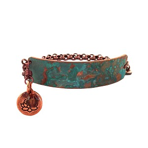 Tiffany Green Small Copper Bracelet Lobster Closure