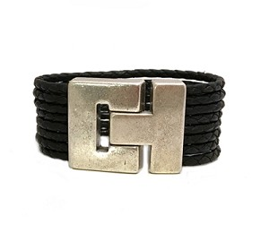 Women's Madrid Braided Leather Bracelet in Multiple Leather Colors
