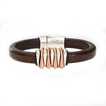 Men's Dyad Black Leather Bracelet