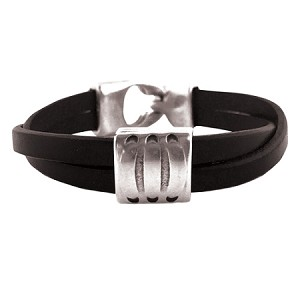 Women's Tres Leather Bracelet in Multiple Leather Colors