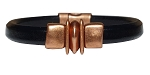 Men's Copper Balance Leather Bracelet