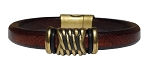 Women's Brass Energy Leather Bracelet