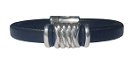 Women's Silver Energy Leather Bracelet