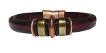 Women's Brass/Copper Jupiter Leather Bracelet