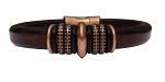 Women's Copper Mars Leather Bracelet