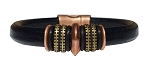 Women's Brass Mars Leather Bracelet