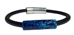 Women's Demetria Galaxy Black Leather Bracelet