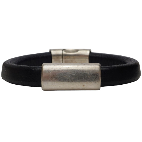Women's Silver North Leather Bracelet