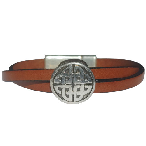 Women's Celtic Leather Bracelet in Multiple Leather Colors