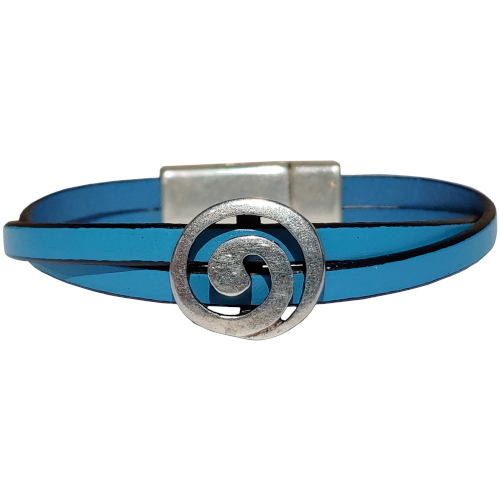 Women's Vortex Leather Bracelet in Multiple Leather Colors