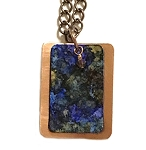 Summerfield Copper Necklace, Rectangle