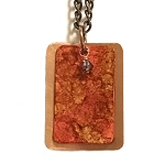 Sunset Copper Necklace, Rectangle