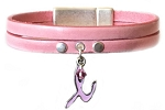Women's Charm Leather Bracelet