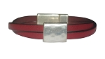 Women's Ornament Leather Bracelet in Multiple Leather Colors