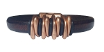 Men's Copper Space Brown Leather Bracelet