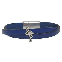 Women's Flamingo Leather Bracelet in Multiple Leather Colors