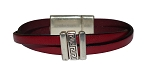 Women's Grecian Leather Bracelet in Multiple Leather Colors
