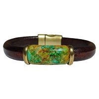 Men's Iris Terra Leather Bracelet