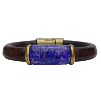 Men's Iris Violet Leather Bracelet