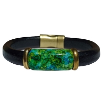 Women's Iris Carribean Leather Bracelet