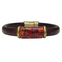 Women's Iris Autumn Leather Bracelet