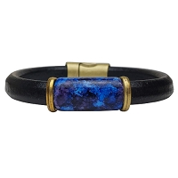Men's Iris Galaxy Leather Bracelet