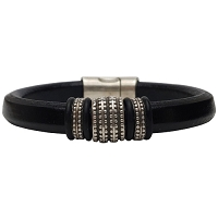 Women's Silver Renegade Leather Bracelet