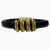 Men's Brass Space Leather Bracelet