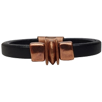 Women's Copper Balance Leather Bracelet