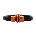 Men's Copper Balance Brown Leather Bracelet