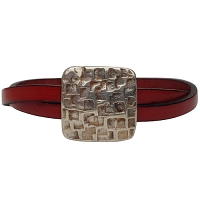 Women's Crackle Leather Bracelet in Multiple Leather Colors