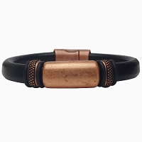 Women's Copper Titan Leather Bracelet