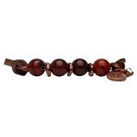 Aster Red Apple Jasper Semi-Precious Suede Bracelet
