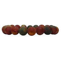 Sophia Semi-Precious Red Creek Jasper Stretchy Bracelet