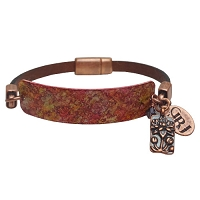 Women's Thalia Leaves Copper Bracelet