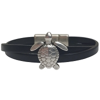 Women's Sea Turtle Leather Bracelet in Multiple Leather Colors
