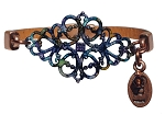 Women's Victoria Tanzanite Brown Leather Bracelet