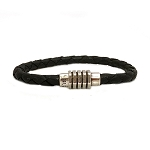Men's Vintage Braided Leather Bracelet in Multiple Leather Colors