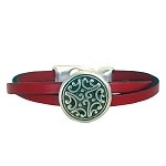 Women's Floral Leather Bracelet in Multiple Leather Colors