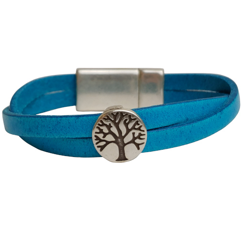Women's Tree of Life Leather Bracelet in Multiple Leather Colors