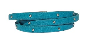Women's Journey 3-Wrap Studded Leather Bracelet