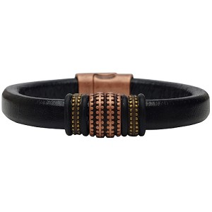 Men's Copper Renegade Leather Bracelet