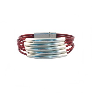 Women's Athena Leather Bracelet in Multiple Leather Colors