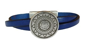 Women's Mandala Leather Bracelet in Multiple Leather Colors