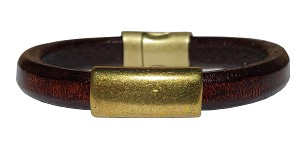 Women's Brass North Leather Bracelet
